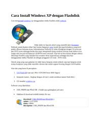 Cara Install Windows XP dengan Flashdisk.docx