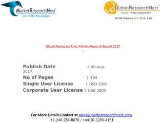 Global Aerospace Rivet Market Research Report 2017.pptx