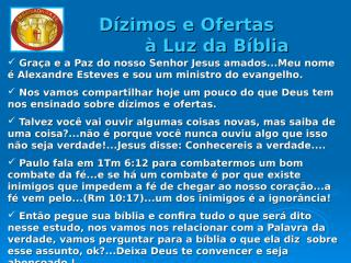 Dízimos e Ofertas à Luz da Bíblia.ppt