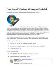 Cara Install Windows XP dengan Flashdisk.docx