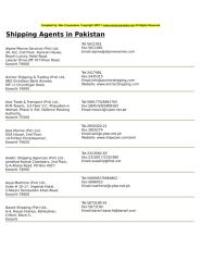 Shipping Agents in Pakistan.doc