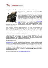 MassageChairs.com Now Brings New Collection of Massage Chairs at Affordable Prices.pdf