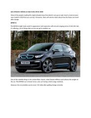 List of Electric Vehicle on Sale in the US for 2020.docx